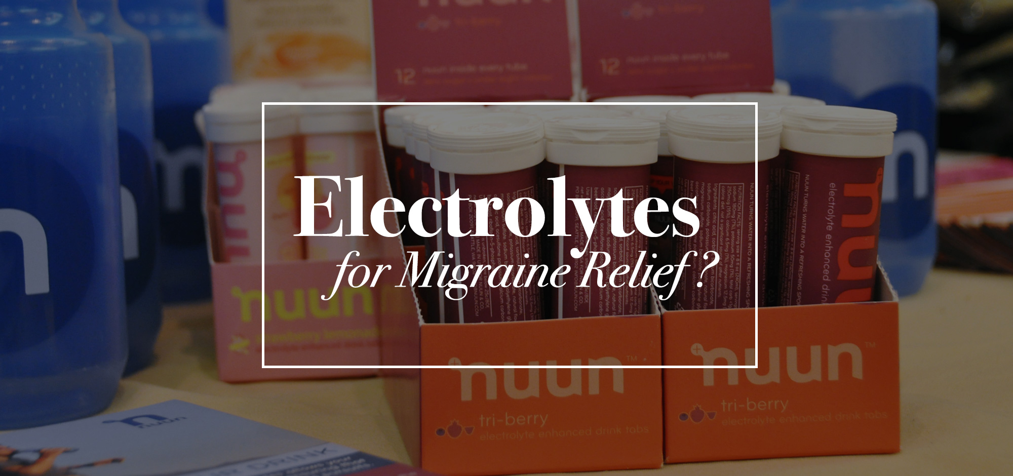 Electrolytes for Migraine Relief? | Achy Smile